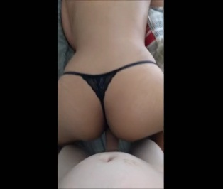 Pinay ass with a thong