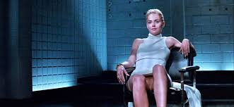 Sharon Stone flashing her pussy
